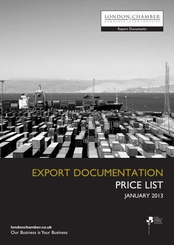 Price list - London Chamber of Commerce and Industry