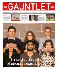 Breaking the silence of sexual assault, page 11 - The Gauntlet