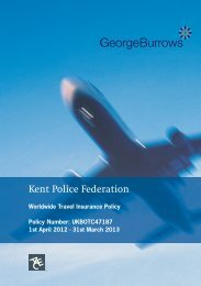 Annual Travel Insurance Policy - Kent Police Federation