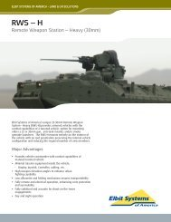 Remote Weapon Station - Heavy Data Sheet - Elbit Systems of ...