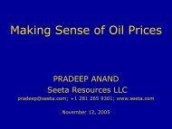 Making Sense of Oil Prices - Seeta Resources