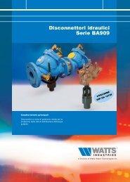 Disconnettori idraulici serie BA909 - WATTS industries