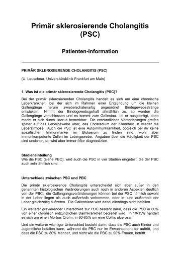 Primär sklerosierende Cholangitis \(PSC\)