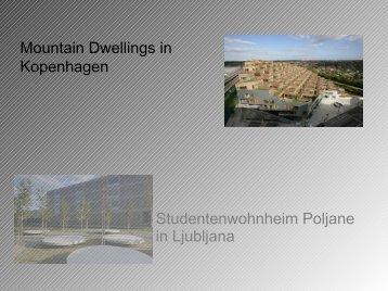 Studentenwohnheim Poljane in Ljubljana Mountain Dwellings in ...