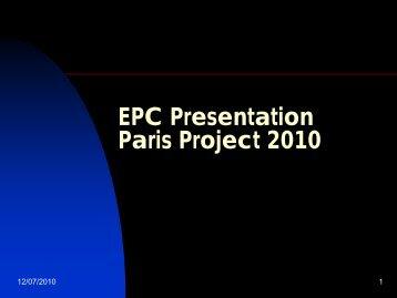 EPC Presentation Paris Project 2010 - Europa Distribution