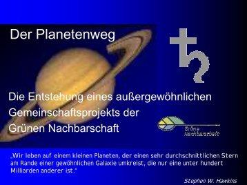 Der Planetenweg - Grüne Nachbarschaft