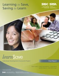 Learning to Save, Saving to Learn - SEDI
