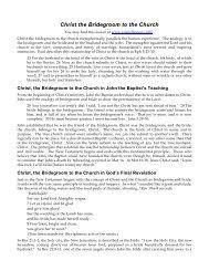 Christ, the Bridegroom to the Church PDF - Gospel Lessons