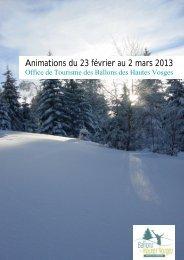 Animations du 23 février au 2 mars 2013 - RemiremontInfo