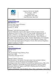 CQA Focus Group Members 06-28-10 - ASQ Groups Main Page ...