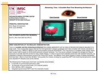technology summaries - InfoLab - University of Southern California
