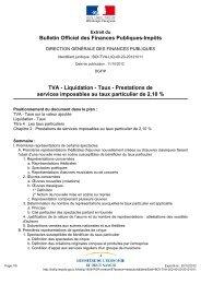 Bulletin Officiel des Finances Publiques-Impôts TVA ... - Arcade PACA