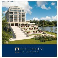 A new dimension of exciting well-being. - Columbia Hotels & Resorts