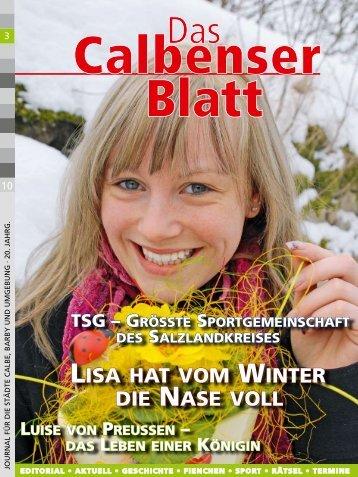 LISA HAT VOM WINTER DIE NASE VOLL