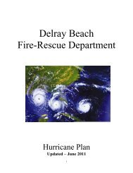 delray beach fire-rescue department hurricane plan