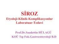 Siroz Komplikasyonları - Prof. Dr. Sadettin Hülagü