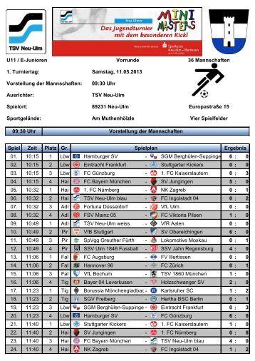 Ergebnisse vom Tag 1 - TSV Neu-Ulm