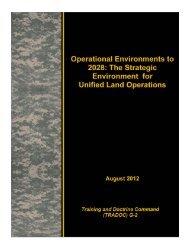TRADOC 2028 Strategic Assessment - Defense Innovation ...
