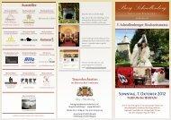 11.00 Uhr bis 18.00 Uhr - Hotel und Restaurant Burg Schnellenberg