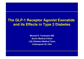 The GLP-1 Receptor Agonist Exenatide and its Effects in Type 2 ...
