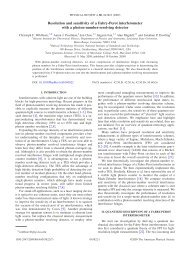 Resolution and sensitivity of a Fabry-Perot interferometer with a ...