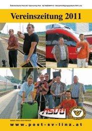 Vereinszeitung 2011 - Postsportverein Linz