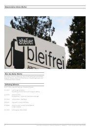 PDF Dokumentation des Atelier Bleifrei Künstler-Kollektiv