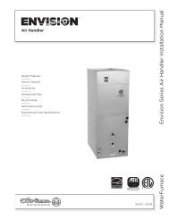 W a terFurnac e En vision Series Air Handler Installation Manual