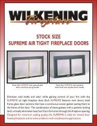 Stock Size Supreme™ Air Tight Fireplace Doors - Wilkening Fireplace
