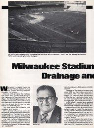 Milwaukee Stadium Sports New Drainage and ... - About SportsTurf