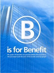 B is for Benefit - DLA Piper