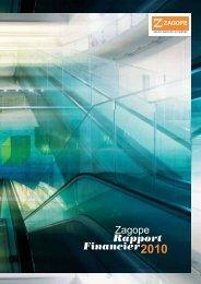 Rapport Zagope Financier