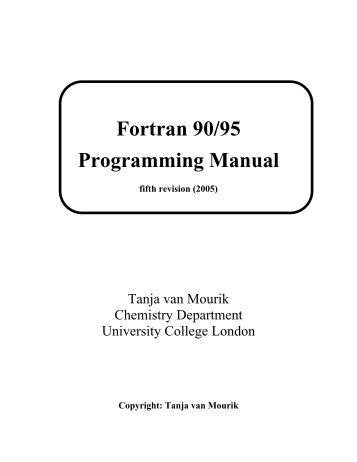 Fortran 90/95 Programming Manual - Openlibra