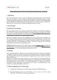 SCS GmbH & Co. KG Juni 2007 Update-Information zur PTC-II/e/ex ...
