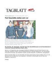 Artikel im Tagblatt vom 24. September 2010 - Gesundheits-Praxis ...