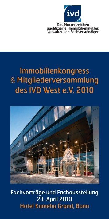 Immobilienkongress & Mitgliederversammlung des ... - DIESE GMBH