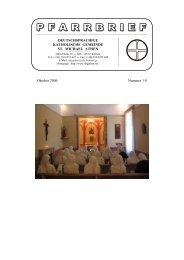 Oktober 2006 - Deutschsprachige Katholische Gemeinde St ...