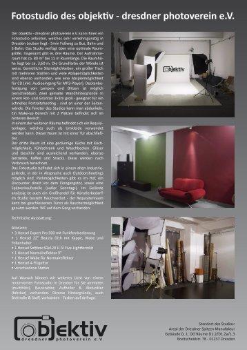 Fotostudio des objek v - objektiv - dresdner photoverein eV