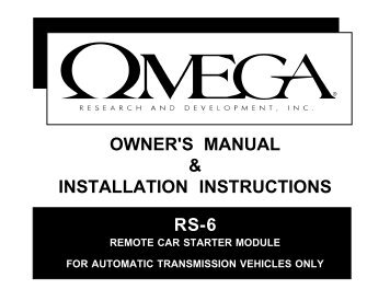 RS-6 manual - car alarm