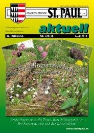 Gemeindezeitung März 2010 - Marktgemeinde Sankt Paul im ...