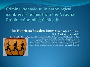 Dr. Henrietta Bowden-Jones - European Association for the Study of ...