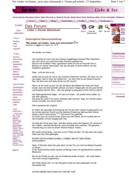 derazrosurp: Forum gofeminin sexualität