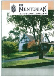 1987 - Mentone Grammar