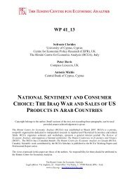 The Iraq War and Sales of US Products in Arab Countries