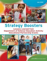 Strategy Boosters - Military K-12 Partners - DoDEA
