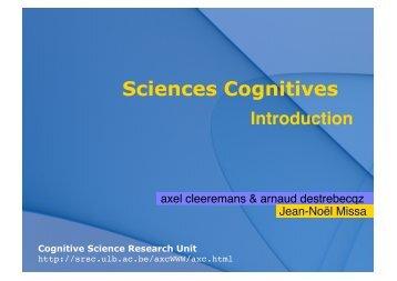 Sciences Cognitives - Cognitive Science Research Unit