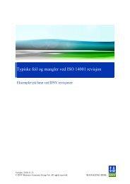 Typiske feil og mangler erfart gjennom ISO 14001 revisjon (pdf)
