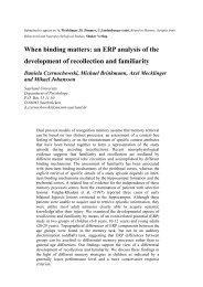 When binding matters: an ERP analysis of the development of ...