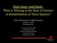 Burn Injury and Hands - American Burn Association