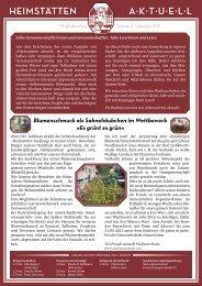 HEIMSTÄTTEN A·K·T·U·E·L·L - Heimstätten Genossenschaft Jena eG
